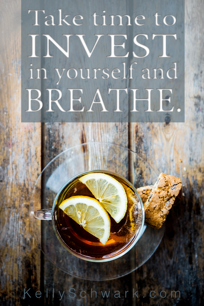 Invest In Yourself Quote Tea SCHWARK
